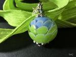 Artischockenperle hellblau/hellgrün