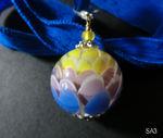 Artischockenperle gelb/lila/hellblau