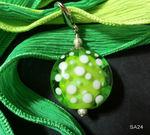 Linse in grün/weiß