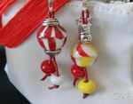 Zipperanhänger weiß/rot/gelb
